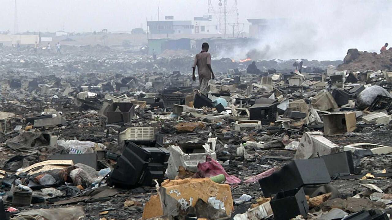 Residuos electrónicos en África