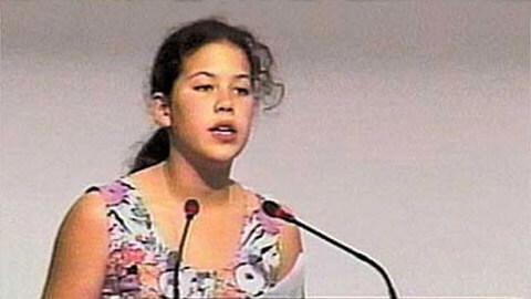 Discurso de Severn Suzuki a los 12 años, ONU 1992